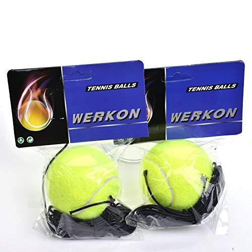 Aaprk Elastischer Tennisball Tennis Trainingsball mit Schnur (2Pack)
