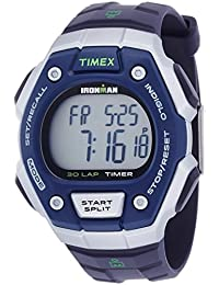 Timex Ironman Men's T5K823 Quartz Classic 30 Lap Watch with LCD Dial Digital Display and Black Resin Strap