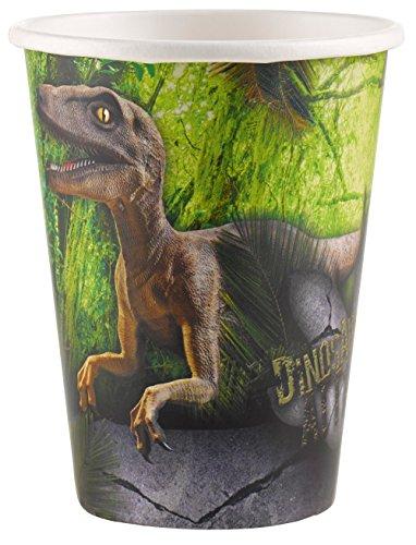 Dinosaurio Ataque Party vasos de papel 8unidades por Amscan Internacional–Rango de nuevo para 2016.