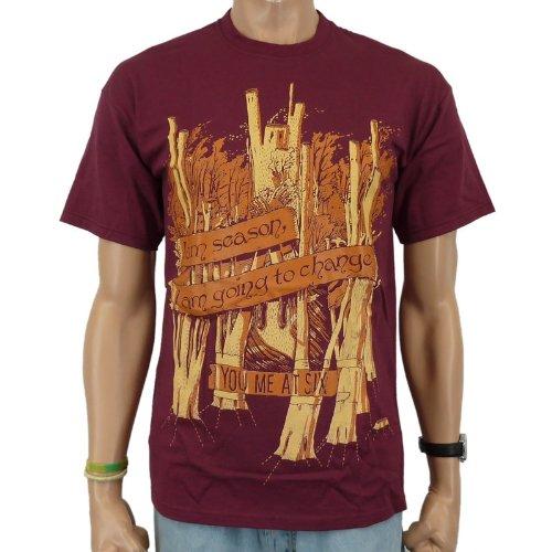 T-Shirt You Me At Six-Season Band, colore: vinaccia, Uomo, YOU ME AT SIX - SEASON T-Shirt, nero, XL
