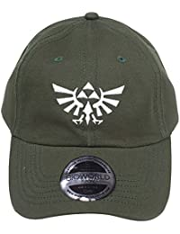 Bioworld Nintendo Legend of Zelda Embroidered Tri-Force Crest Stone Washed  Denim Dad Cap Baseball 8b480c53b85f