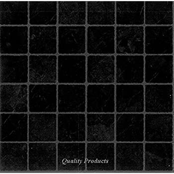 50 X Black Marble Effect Self Adhesive Stick On Vinyl