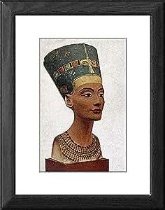Tableau cadre de la Reine Nefertiti d'Égypte portrait de poitrine Par Thutmis 1360 BC