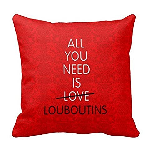 KarilShop All You Need Is Love Red Bottoms Shoes Linen Throw Pillow Case Cushion Cover Home Sofa Decorative 18 X 18