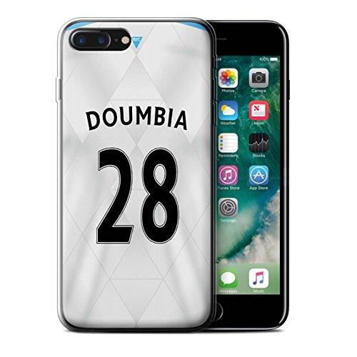 Offiziell Newcastle United FC Hülle / Gel TPU Case für Apple iPhone 7 Plus / Pack 29pcs Muster / NUFC Trikot Away 15/16 Kollektion Doumbia