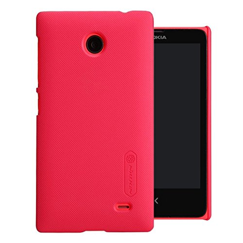 Nillkin Frosted Shield Hard Bumper Back Case Cover ForNokia X X+ Dual Sim Plus Android A110 & Free Nillkin Screen Guard - Red  available at amazon for Rs.299