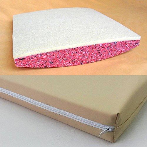 Faltrollstuhlkissen aus Verbundschaum & 1 cm Viscoschaum Inkontinenzbezug (47 x 47, beige) (Falt-rollstuhl)