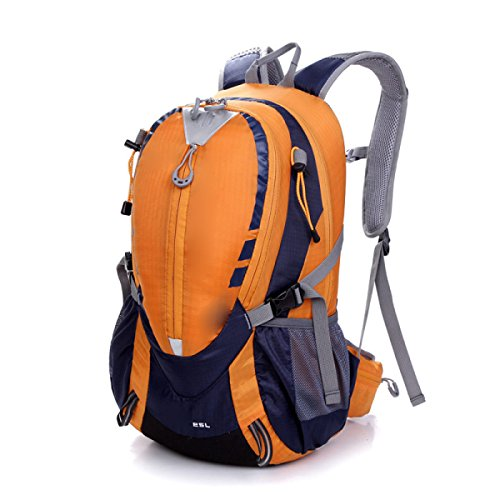 Escursionismo Backpack Daypack Climbing Viaggiare Zaino Casual Bag,Yellow Orange