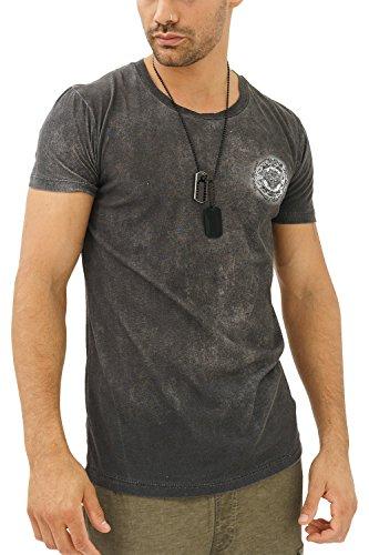 trueprodigy Casual Herren Marken T-Shirt mit Aufdruck, Oberteil Cool und Stylisch mit Rundhals (Kurzarm & Slim Fit), Shirt für Männer in Bedruckt, Größe:L, Farben:Schwarz
