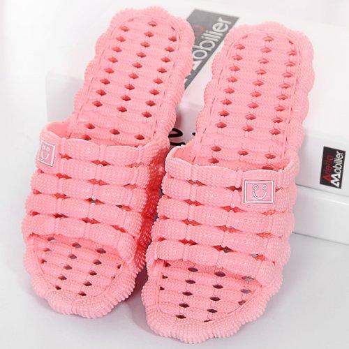DogHaccd pantofole,L'estate uomini e donne matura cool ciabatte di plastica spessa sweet home bagno interno antiscivolo di pantofole Rosa chiaro4