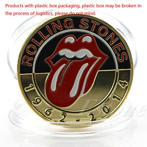 Gold überzogene Berühmte Musik-Gruppen-Rolling Stones-Gedenkmünzen-Kunst-Sammlung (Ring Rolling Gold)