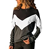 Binggong Femme T-Shirt Grande Taille Col Rond Top Large Tunique Casual Haut Blouse