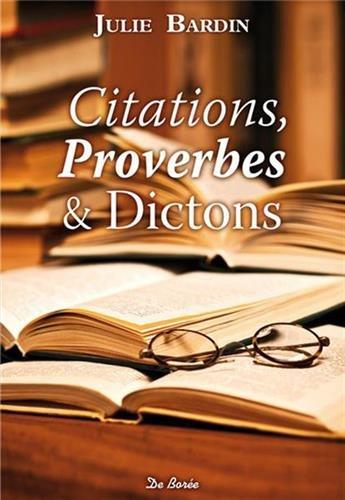 Citations proverbes et dictons