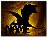 Schlummerlicht24 Led 3d Nachttischlampen Wand-Deko Lampe