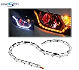 #9: Kingsway Audi Style Crystal DRL Light with Moving Indicators for Head Lamps - Universal for All Cars (Daytime Running LED Light and Indicator)