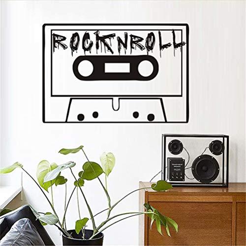 wandaufkleber 3d Wandtattoo Wohnzimmer Vintage Rock And Roll Tape Kinder Schlafzimmer Wohnkultur Wohnzimmer Kinderzimmer Dekoration
