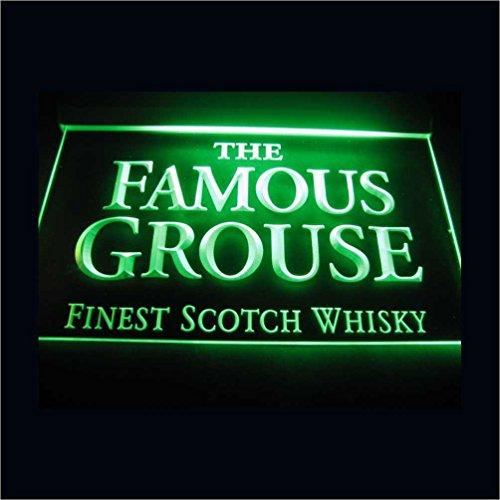 The Famous Grouse LED Zeichen Werbung Neonschild Grün