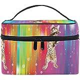 Kosmetiktasche Rainbow Cool Cat Makeup Bag für Frauen Kosmetiktasche Toiletry Train Case