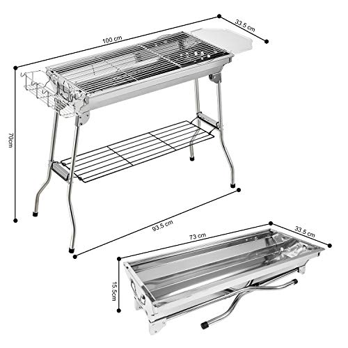 Zoom IMG-1 fixget barbecue grill carbone griglia