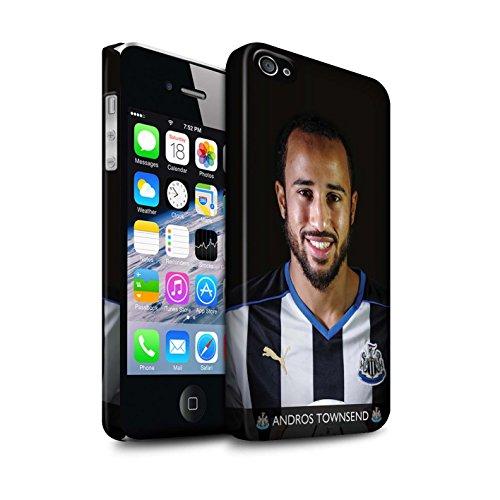 Offiziell Newcastle United FC Hülle / Matte Snap-On Case für Apple iPhone 4/4S / Saivet Muster / NUFC Fussballspieler 15/16 Kollektion Townsend