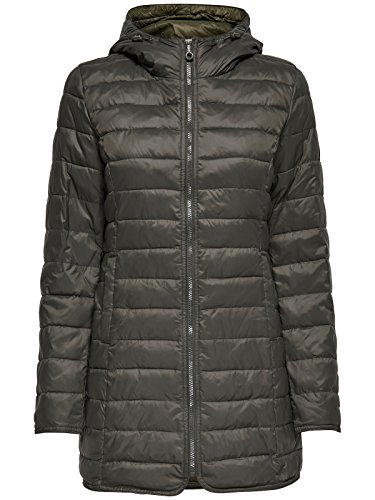 ONLY Damen-Mantel Tahoe Coat Übergangsjacke Freizeitmantel, Farbe:Grau, Größe:XS - 2