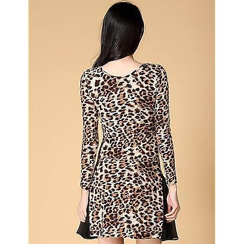 ZY Abiti - Per donna - Ballo latino / Samba - Leopardo - di Spandex / Poliester / Di seta - Nero / Leopardata , leopard printed-xxl , leopard printed-xxl