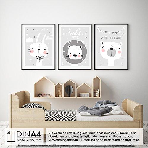 ... Frechdax 3er Set Kinderzimmer Babyzimmer Poster DIN A4 Ohne  Bilderrahmen   Mädchen Junge   Kinderposter ...
