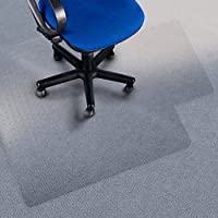 floordirektpro Sedia–Tappetino Pavimento Protezione–100% policarbonato con labbra, Policarbonato, transparent, 75 x 120 cm (with Lip) - Pro Gel Grip