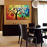 YESURPRISE Impresión En Lienzo Nuevo Para Pared Decoración Hogar Sala Cocina Dormitorio Árbol Colorido (sin marco o bastidor detrás)