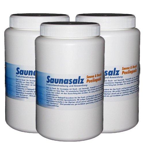 Saunasalz-Dusch & Peelingsalz-Set 3 x 1 kg (Duft nach Wahl) Körperpeeling