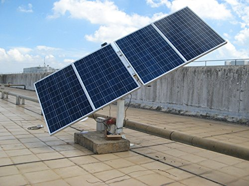 ECO-WORTHY 400W 4 x 100 Watt Solarmodul System Kits: Complete Dual Axis Solar Tracking System with Mountings & 4pcs 100W 12V Poly Solarpanel