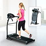 HOMCOM 1-10Km/h Folding Treadmill Machine Electric Motorised Running Machine Home Fitness Gym Indoor Use