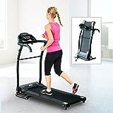 HOMCOM 1-10Km/h Folding Treadmill Machine Electric Motorised Running Machine Home Fitness Gym Indoor Use