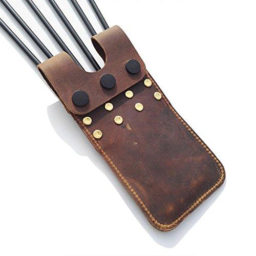 ZSHJG Archery Pocket Arrow Köcher Leichte Hüfte Pocket Quiver Gürtel Taille Köcher für 6 Pfeile Lagerung (Braun) -