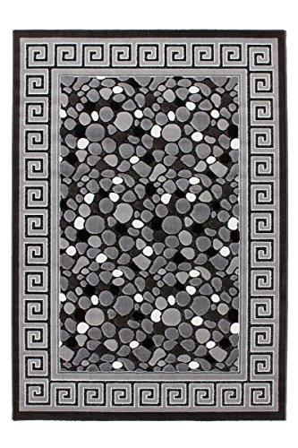 Lalee-347249299-Moderner-Designer-Teppich-mit-Lurex-Garn-mit-Bordre-und-Stein-Muster-3D-Effekt-120-x-170-cm-silber-grau