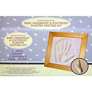 Baby Hand Foot Print Plaster Cast Kit Christening Gift