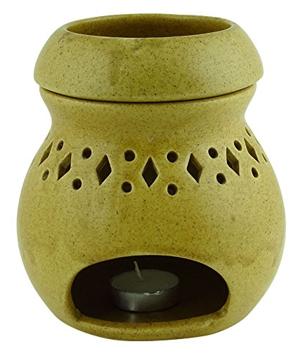 Preisvergleich Produktbild Aromatherapie Ceramic Wax Teelicht Brenner Duft-Halter Öl Diffusor-Wärmer Home Decor Geschenk-Set