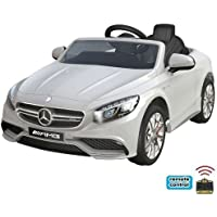 Mercedes-Benz S63 AMG Cabriolet Ride-On 12V Elektro Kinderauto Kinderfahrzeug Kinder Elektroauto (Weiss)