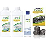 Lavavajillas Líquido Concentrado biodregadable DISH DROPS 1L x 2Unds + 4 Estropajos de Acero Inoxidable SCRUB