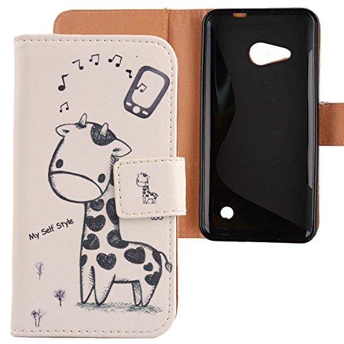 Lankashi PU Flip Leder Tasche Hülle Case Cover Schutz Handy Etui Skin Für Microsoft Nokia Lumia 550 4.7