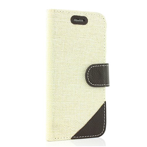 Urcover® iPhone 6 6S Hülle, Smartphone Handytasche mit [ Kartenfach & Magnet ] Bookstyle Flip Wallet Case Handyhülle für Apple iPhone 6 / 6S Farbe: Rot Weiss