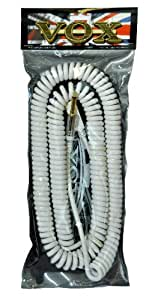Vox VCC090WH 9m Vintage Coiled Cable with Mesh Carry Bag - White