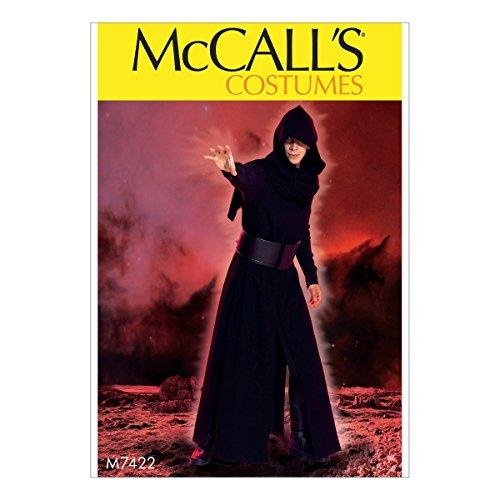 Patterns Mccalls Kostüm - McCall's Patterns 7422. Herren Herren-Kostüm Schnittmuster, Tissue, mehrfarbig, Größen S-2X Große