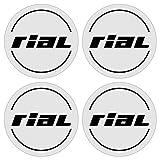 Rial 4 Stück★ 60mm Aufkleber Emblem für Felgen Nabendeckel Radkappen