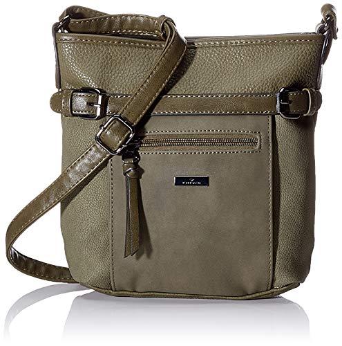 TOM TAILOR Umhängetasche Damen Juna Flash, Grün (Khaki), 26x24x7.5 cm, TOM TAILOR Handtaschen, Taschen für Damen, klein