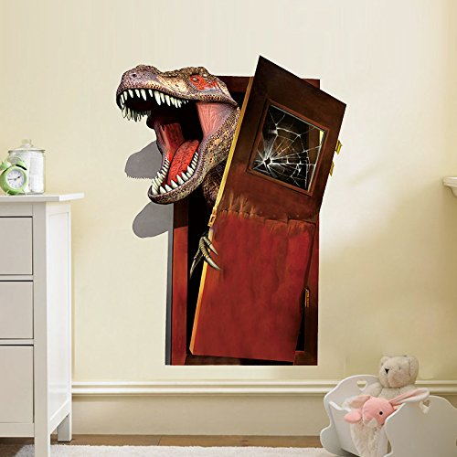 Wandtattoo Wanddeko Wandbild Wandaufklebe Kinderzimmer Dinosaurier 3D Sticker (130)
