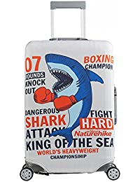 Tentock Spandex - Maleta elástica para equipaje de viaje, boxing shark,right opener, Medium