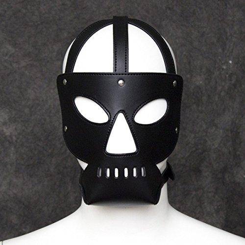 Gesichtsmaske Für Paare Einstellbar Kostüm Zubehör PU-Leder Rollenspiel Spaß Geschenk ()