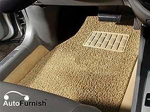 Autofurnish Anti Skid Curly Car Foot Mats (Beige) For Hyundai Creta
