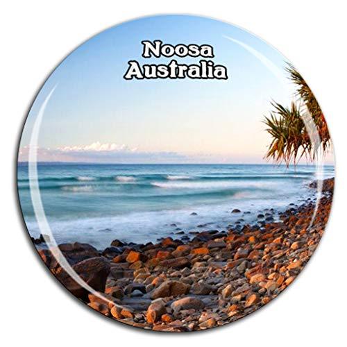 Weekino Noosa National Park Australien Kühlschrankmagnet 3D Kristallglas Tourist City Travel Souvenir Collection Geschenk Starke Kühlschrank Aufkleber